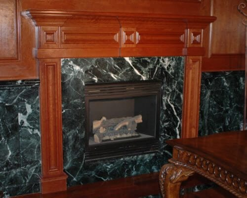 Empress Green Fireplace